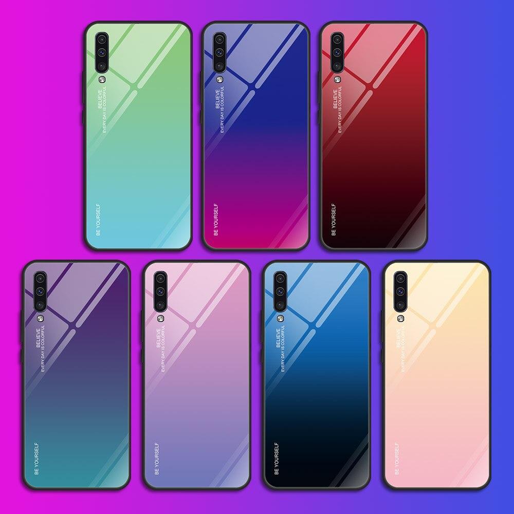 Gradient Glass Case For Samsung A30S A50S A30 A50 S A 30S 50S A 30 50 Gradient Glass Case For Samsung A30S A50S A30 A50 S A 30S 50S A 30 50 S Case Protective Shell A10 A20 A70 A50 A60 A40 A20e Case