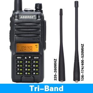 Image 2 - 2020 Abbree AR F3 Tri Band 8w Walkie Talkie uhf vhf 220 260MHz ham lungo raggio palmare two way radio cb Ricetrasmettitore Da Trekking uv 5r