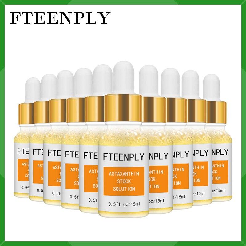 FTEENPLY astazantina suero Facial ácido hialurónico blanqueamiento esencia hidratante cara nutritiva protección solar de reparación profunda 10 Uds