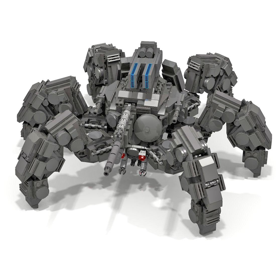 1470Pcs MOC Multi-legged Tarantula Model Small Particle Building Blocks Educational Toy Gift Set For Christmas - Dark Grey