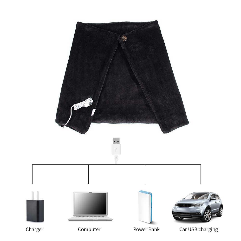 Invierno casa Oficina USB chal de calefacción de hombro manta de calefacción eléctrica almohadilla de fibra de carbono suave sala de estar caliente chal 80*40CM B4