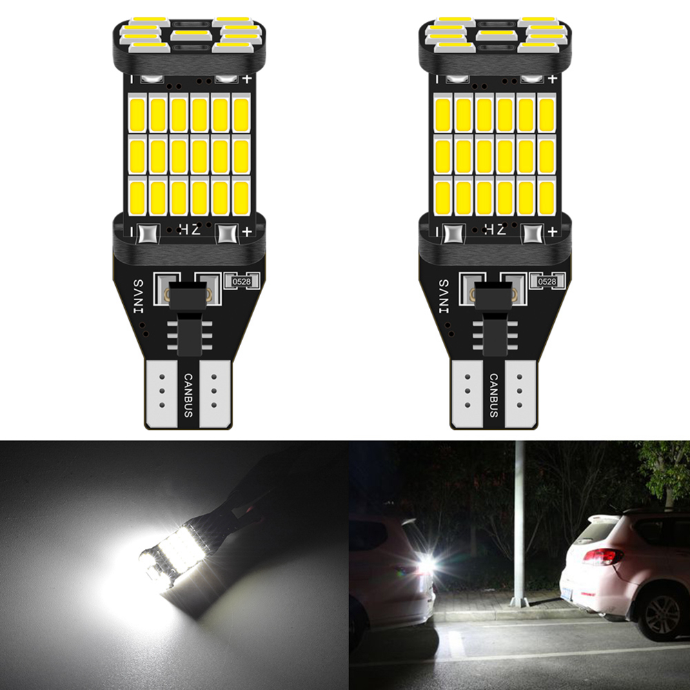 2Pcs T15 W16W T16 LED Canbus Bulbs No Error Car Reverse Backup Light For Kia Rio 2 3 K2 K3 Armrest Optima Ceed Sorento Cerato