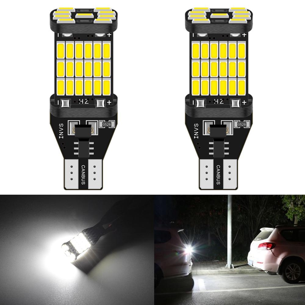 2Pcs T15 W16W T16 LED Canbus Bulbs No Error Car Reverse Backup Light For Kia Rio 2 3 K2 K3 Armrest Optima Ceed Sorento Cerato