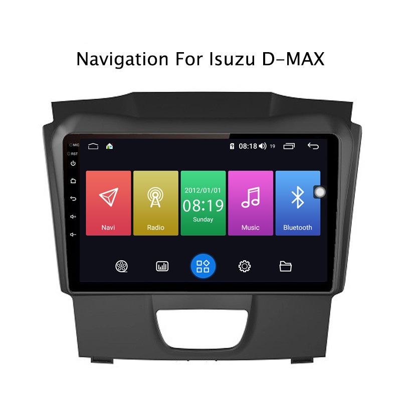 Best Ectwodvd 9inch Andriod 8.1 Car DVD GPS For Isuzu D-MAX DMAX 2015-2018 4G RAM 64G ROM CarPlay DSP 4G LTE with WIFI 0