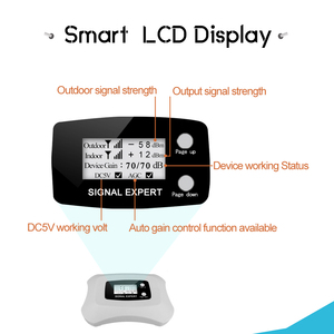 Image 2 - 4G LTE DCS 1800 Cellular Signal Amplifier 70dB Gain LCD Display GSM Signal Repeater Band 3 4G LTE Cellphone Signal Booster Set//
