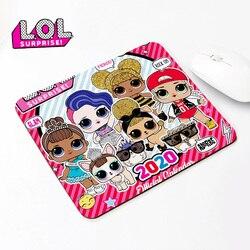 LOL Surprise – tapis de souris Original 2mm pour filles, joli tapis de Table en caoutchouc, motifs de dessins animés, pour ordinateur