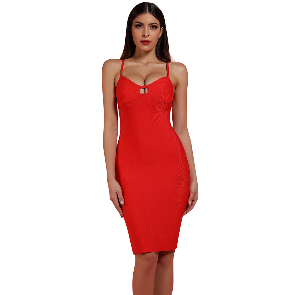 Ocstrade 2019 New Summer <font><b>Sexy</b></font> V Neck Bandage <font><b>Dress</b></font> <font><b>Red</b></font> Strapy Sleeveless Bandage <font><b>Dress</b></font> Mini Fashion Bandage <font><b>Dress</b></font> image