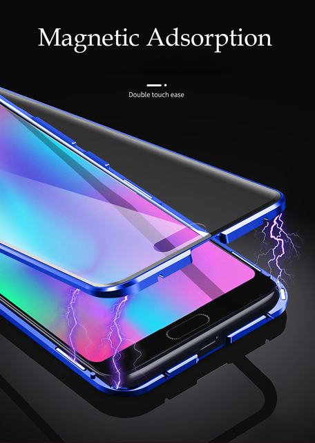 360 Full Protection Magnetic Case For Huawei Honor 10 Case Front Back Tempered Glass For Honor V10 Cover case For Honor 10i