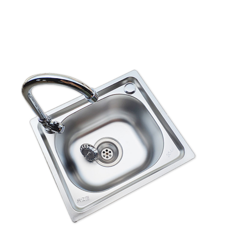 Kitchen Sink Stainless Steel Single Kitchen Sink Drain Pipe Wash Basin Set Pf92701