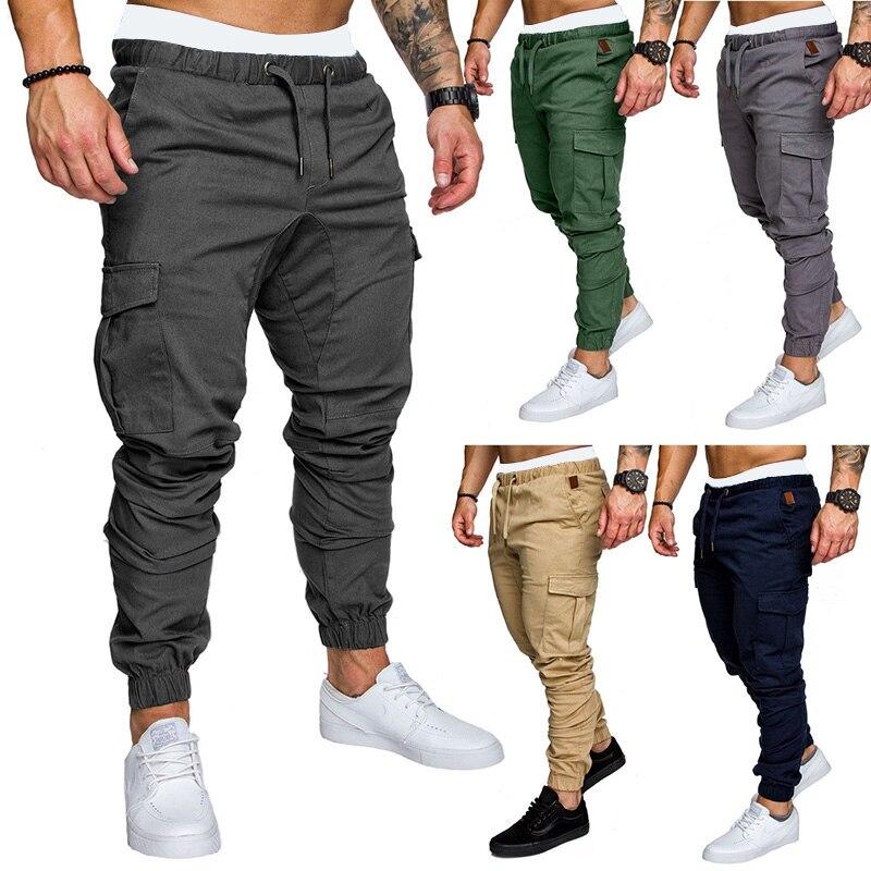 High Quality Brand Men's Gym Bodybuilding Men's Pants Multi-pocket Hip-hop Jogger Sports Pants Casual Jogging Pants