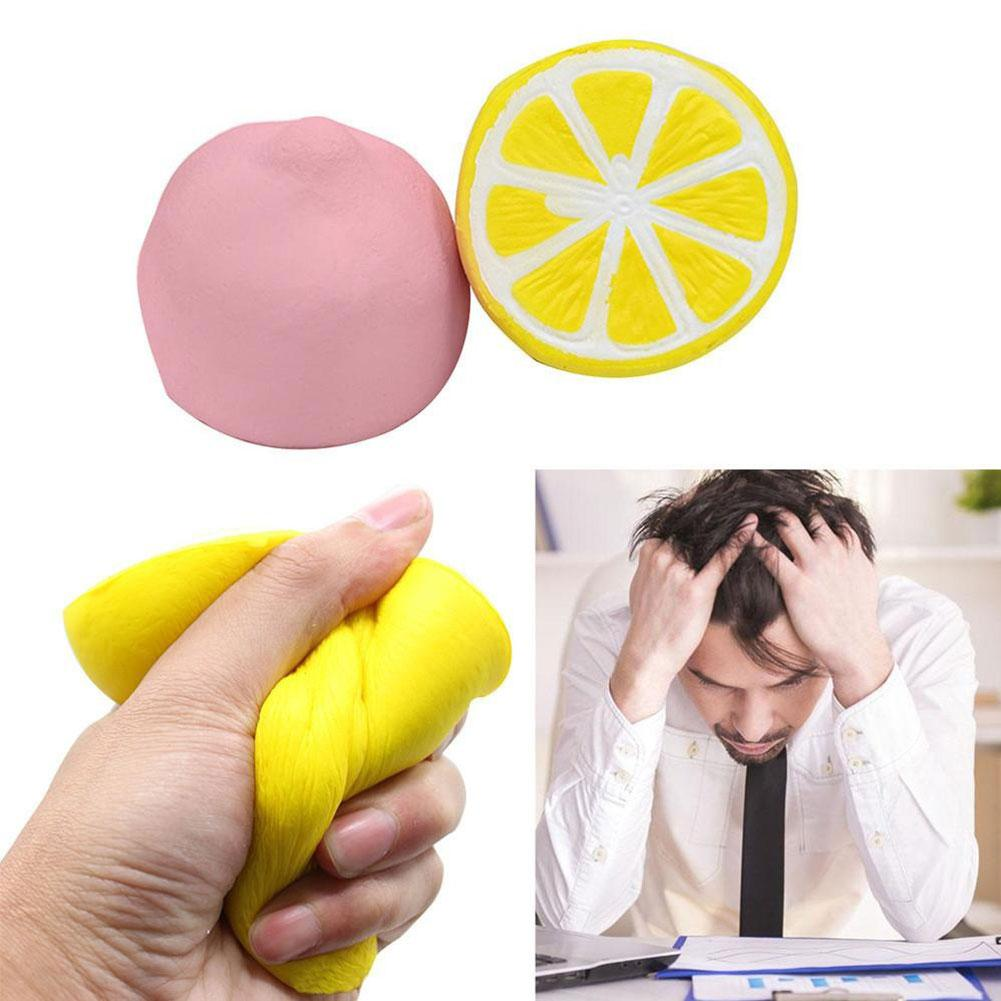 Cute Lemon Shape Anti-stress Slow Rising Stress Relief Kids Adult Squeeze Toy Intelligence Developmental Toy