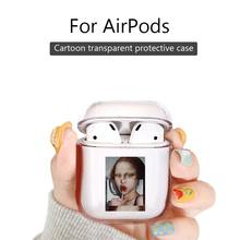 Jaomax Plastic Hard PC Transparent Funny Art Painting Mona Lisa Van Gogh Wireless Earphone Case for Airpods Protetive Cover Capa(China)