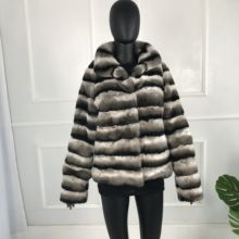 Genuine Rabbit Fur Overcoats High Quality Elegant Women wint