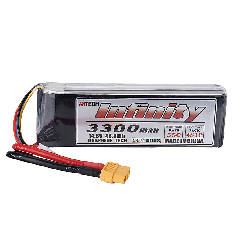 AHTECH-Infinity 14.8V <font><b>3300mAh</b></font> 55C <font><b>4S</b></font> XT60 Plug <font><b>Lipo</b></font> Battery For RC Quadcopter Multicopter Multirotor DIY Accessories Parts image