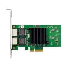Двойная сетевая карта RJ45 Lan, гигабитный Ethernet 82576EB 1000M PCI-E Ethernet-сервер для Win7 Win8 Win10 Linux nanoesxi