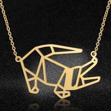 Unique Animal Jewelry Necklaces for Women 100% Stainless Steel Fashion Whale tail Fish Turtle Pendant Necklace Special Gift(China)