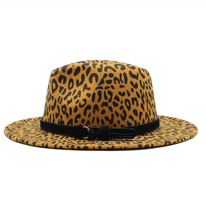 Wanita Pria Wol Fedora Topi dengan Kulit Pita Pria Elegan Wanita Musim Gugur Musim Dingin Topi Jazz Gereja Panama Topi