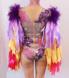Image 5 - Wielu kolor dżetów wstążka frędzle body urodziny świętować Prom strój Bar kobiety piosenkarka tancerz kostium