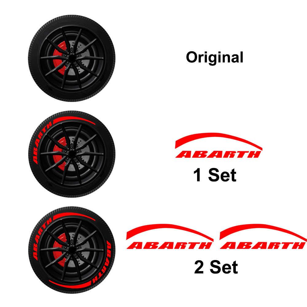 1 pièces voiture mode personnalité roue pneu autocollant lettre autocollant voiture style pour KIA FR Opel Mini Lada Opc Nismo TDI Alfa WRC