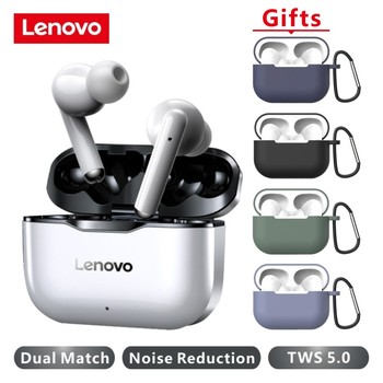 NEW Lenovo LP1 Wireless Earphone Bluetooth 5.0 Dual Stereo Noise Reduction HIFI Bass Touch Control Long Standby 300mAH Headset 1