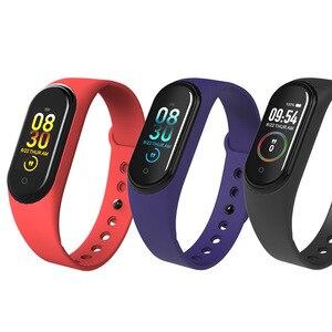 Image 4 - M4 在庫 Smartband フィットネストラッカースマートウォッチ活動 Bluetooth ブレスレット血圧モニター男性女性