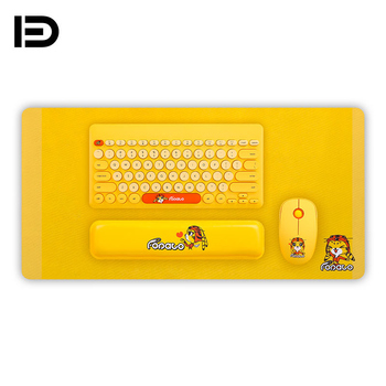 Fd LK586 4 Pcs/Set Suit Wireless Keyboard And Mouse Set Work Pad Wrist Pillow Anime Creative Usb Interface Lovely Keyboard Mouse