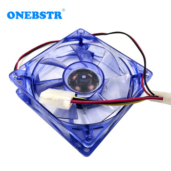 20Pcs/Lot 8025 LED Light Cooling Fan DC 12V 80X80X25mm Mute Chassis Computer PC CPU Case Cooling Fan Multiple Colors Available