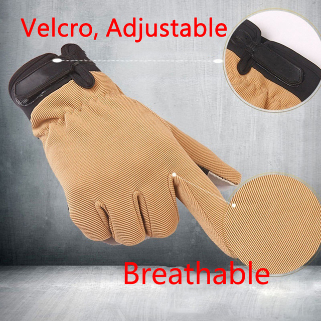 Summer Outdoor Sports Cycling Gloves Men's Non-Slip Silicone Glove Bicycle Windproof Full Finger Gloves For Fishing 6