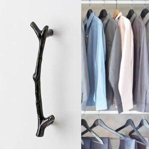 Image 4 - AOBT poignées de branche darbre Antique, boutons pour placard, argent 3D nouveauté créative, poignées de meubles à la mode