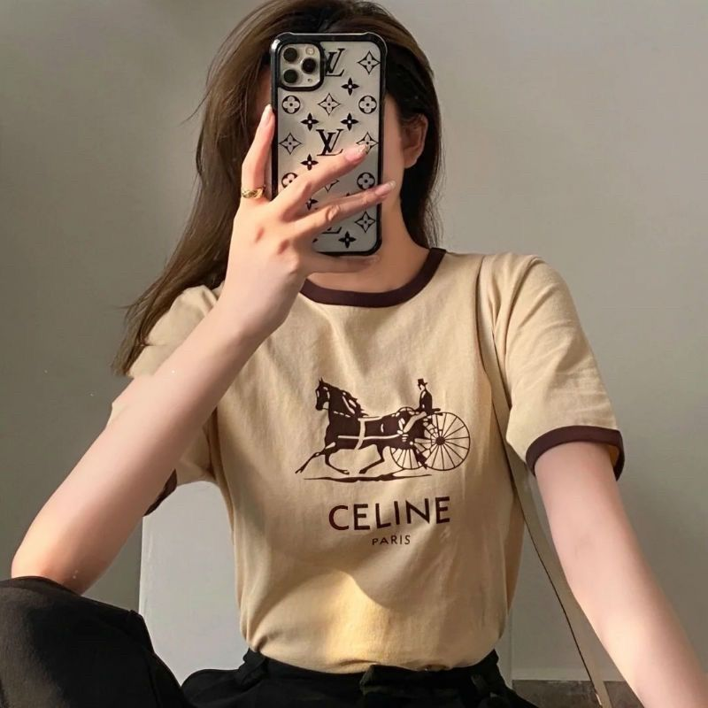 Rowling pony wagon woman's shirt will see short-sleeve tshirt around her neck vintage cotton shirts tshirt tops 2021