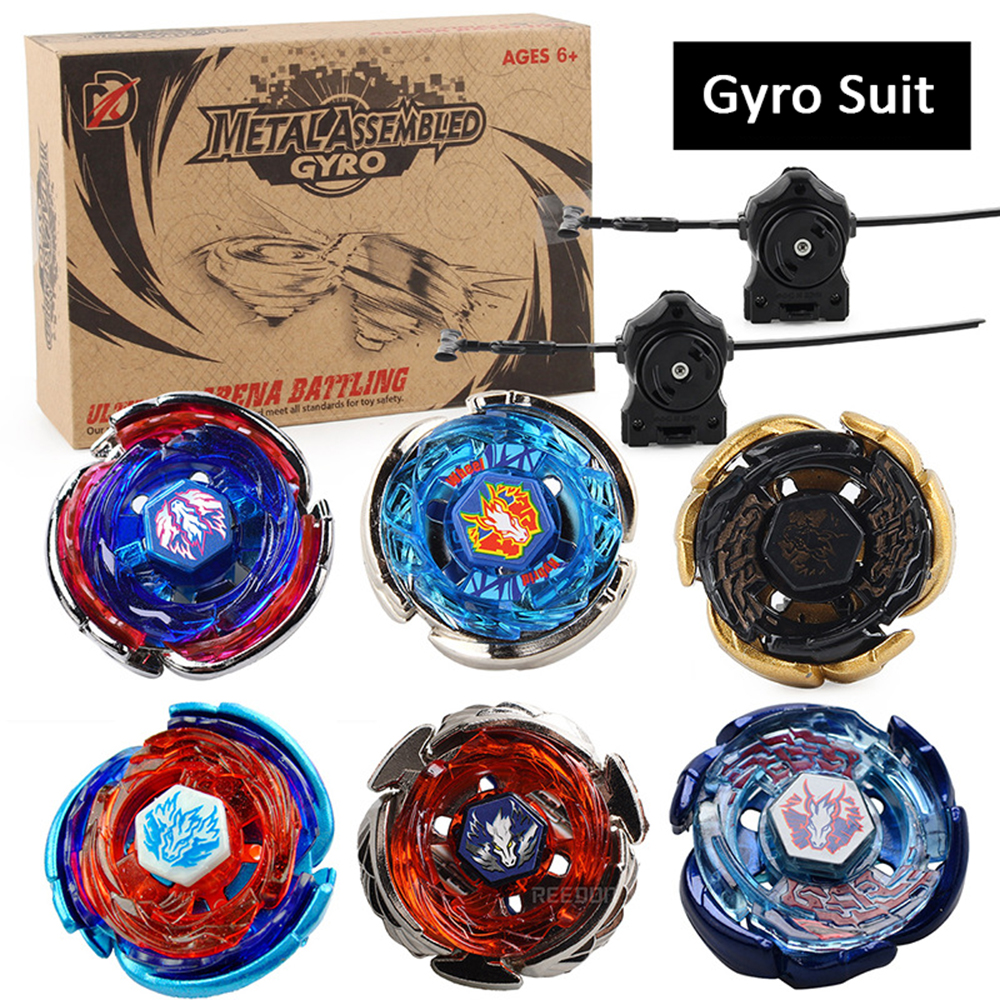 Beyblades Burst Balblade Toy Pegasus Series Set With Pull Ruler Launcher Constellation Alloy Gyro Toys For Children