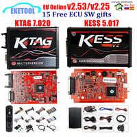 2020 Online Red V2.53 KESS V5.017 V2 KTAG V7.020 V2.25 4LED No Token OBD2 Manager K-TAG 7.020 KESS V2 ECU Upgrade Programmer