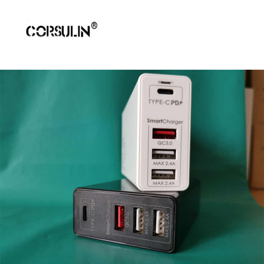 Corsulin 100W 65W GAN Fast Charger พร้อม Quick Charge 3.0 4.0 AFC USB PD Charger สำหรับ iPhone Pro macBook Pro Xiaomi Huawei Samsung
