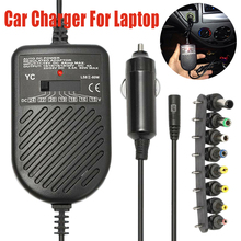Universal Car Charger DC Power Laptop Notebook Adapter +8 Detachable Plugs Computer Charger For HP ASUS DELL Lenovo Laptop недорого