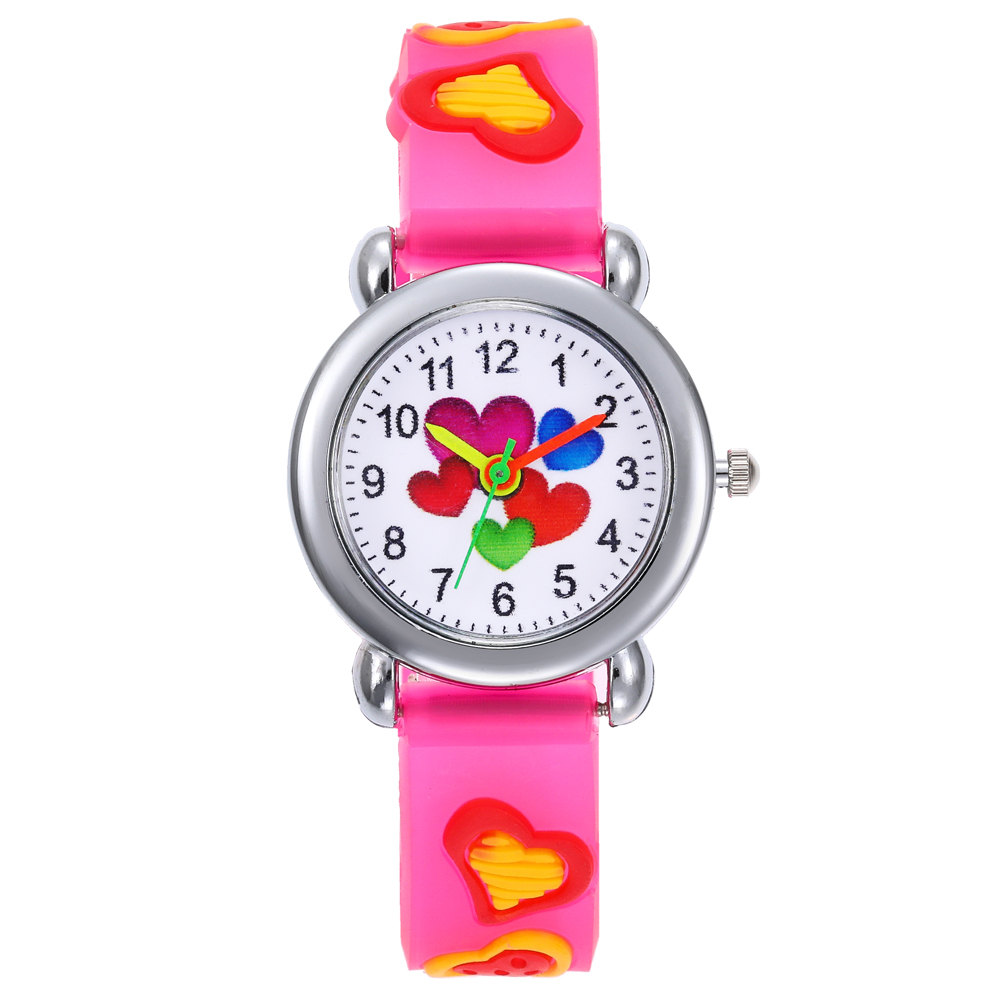 Children'S Watches 3D Cute Cartoon Watch Love Kids Watches Look Hour Rubber Quartz Child Girl'S Boy'S Watch Gift Relogio Infanti