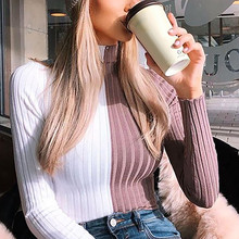 Women's sweater Winter Women's Turtleneck Pullovers Autumn Knit Clothing Skinny Sexy Cropped Sweater 8.15 skinny turtleneck mini sweater dress
