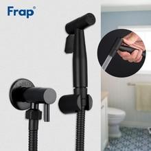 Frap สีดำ Bidet ก๊อกน้ำห้องน้ำ bidet ห้องน้ำก๊อกน้ำก๊อกน้ำ hygienic Shower Clean มุสลิมฝักบัวแบบพกพา bidet sprayer