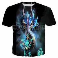 Camiseta de la serie Saint Seiya para hombre y mujer, 3D Camiseta de manga corta con estampado, Top informal de Hip-Hop, nueva, gran oferta de verano