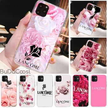 French Cosmetics Lancome Pink Phone Case For IPhone 8 7 6 6S Plus X 5S SE 2020 XR 11 Pro XS MAX 12 12Mini image