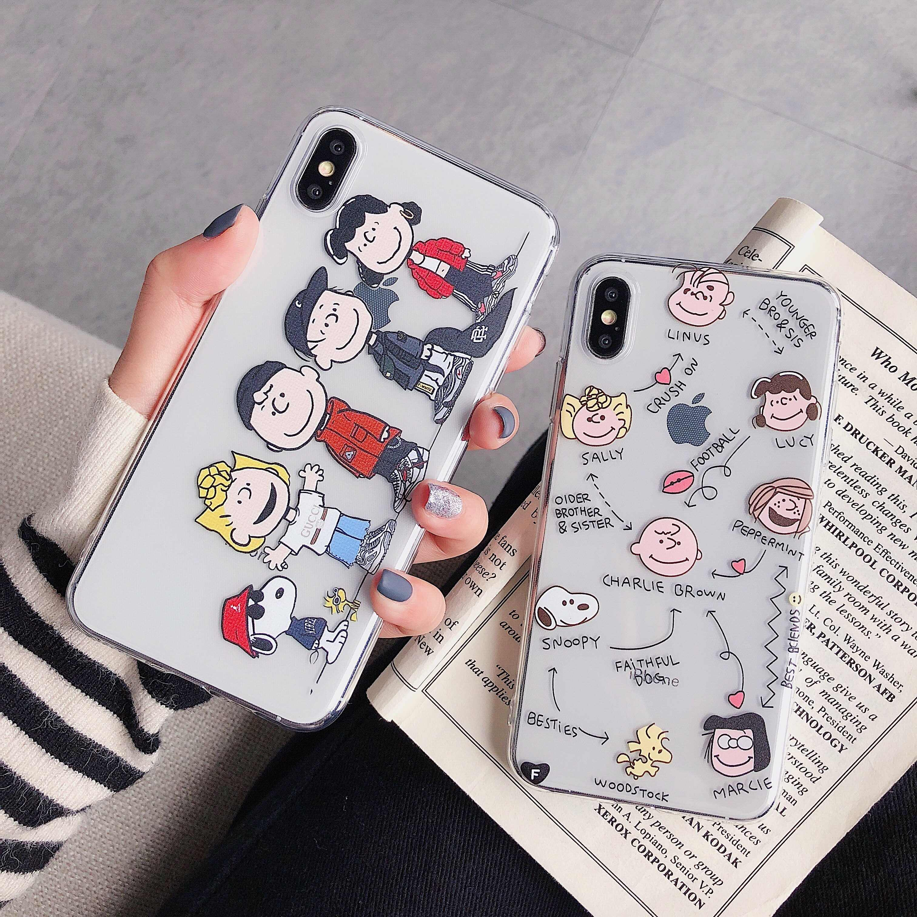 Transparan Baru Ultra Tipis Kartun Case untuk iPhone 11 Pro 6 S 6 S Plus X XR X MAX 8 8 Plus 7 Telepon Kasus Jelas Kasus Promax Case