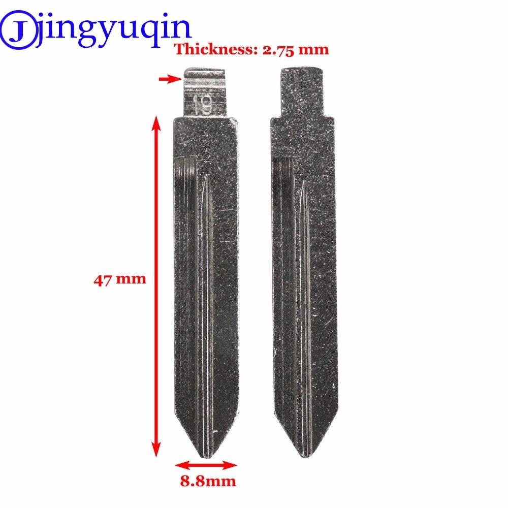 Jingyuqin Uncut Blade запасной пульт дистанционного управления, складной ключ пустой для Ford Mercury Замена