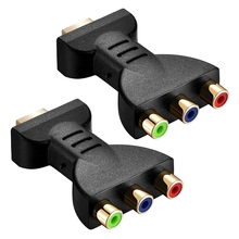 Hot 2 PCS HDMI Male to RCA Adapter AV Video o Converter Adapter to 3 RCA Component Converter Gold Plated Adapter