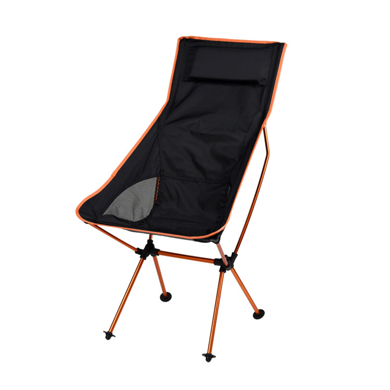 Portable Collapsible Moon Chair Fishing Camping BBQ Stool Folding Extended Hiking Seat Garden Ultralight Office Home Furniture image