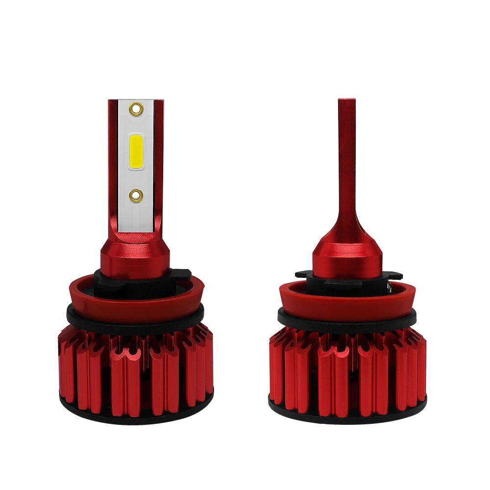 Q6 Car Automobiles Headlamp H4 H7 H11 9005 9006 Lamp 50W 6000LM 6000K White Color Temperature  Auto Headlamp
