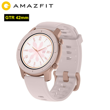 In Stock AMAZFIT GTR 42mm Smartwatch 5ATM Waterproof BT5.0 Touch Screen Watch Heart Rate Monitor 12days Battery 12 Sports Modes