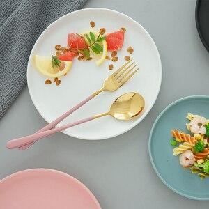 Image 3 - Westerse Bestek Roestvrij Staal Servies Lepel Vork Mes voor Spaghetti Steak Salade Eten Fotografie Schieten Versiering Props