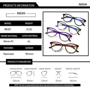 Image 4 - RBENN Cat Eye Reading Glasses Women Blue Light Blocking Presbyopia Eyeglasses for Female Anti Blue Rays Reading Glasses +1.75
