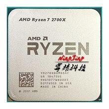 AMD Ryzen 7 2700X R7 2700X 3.7 GHz שמונה ליבות שש עשרה חוט 16M 105W מעבד מעבד YD270XBGM88AF שקע AM4