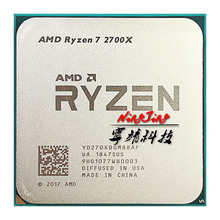 AMD Ryzen 7 2700X R7 2700X 3.7 GHz sekiz çekirdekli on altı konu 16M 105W CPU İşlemci YD270XBGM88AF soket AM4