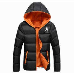 Image 5 - Winter Korean new Printed Down Jacket  Peugeot JACKET thickening coats clothes male casual jackets